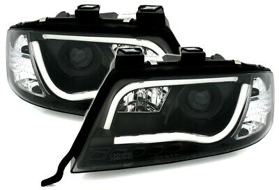 Cuplu frontal faruri LED TUBE LIGHT LTI La interior AUDI A6 C5 4B (FL) 01-04 neg