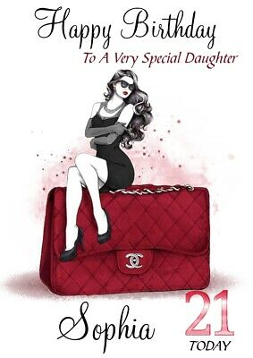 Personalised Female Birthday card, 16th 18th 21st 40th Daughter granddaughter .