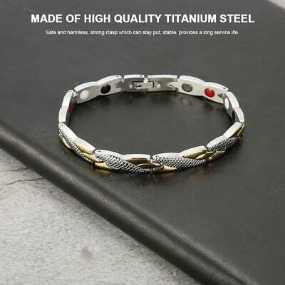 Fashion Titanium Steel Therapy Energy Magnetic Bracelet Pain Relief Health Care