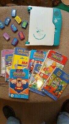 Leap Frog Leap Pad Learning System- Model 57-000 W/ 9 books, cards, and case