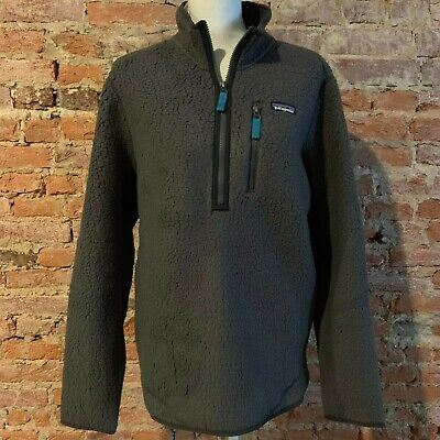 27a77d87 NEW $129 PATAGONIA Mens Retro Pile Fleece Pullover Gray M - $88.00 ...
