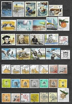 Lithuania small lot of used stamps Lietuva