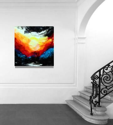 Large Original Sunset Modern Fine Art Abstract Canvas Painting Tara Baden Signed