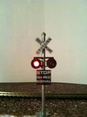 HO Scale railroad crossing signals LED made 2 target faces