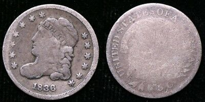 1836  Capped Bust Half Dime