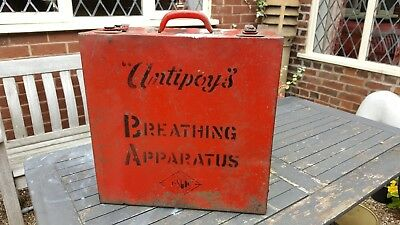 industrial metal antipoys breathing apparatus box case with handle