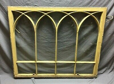 Antique Triple Arch Gothic Window Sash Shabby Vintage Chic 230-19C