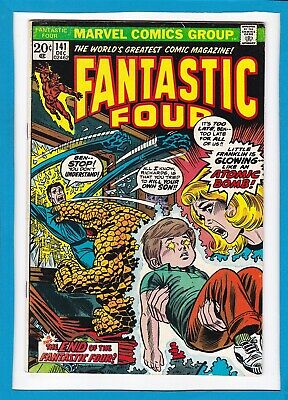 """Fantastic Four #141_Dec 1973_Very Fine_""""is This The End Of The Fantastic Four""""!"""