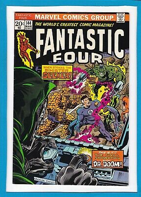 """Fantastic Four #144_March 1974_Vf Minus_""""the Final Showdown With Dr. Doom""""!"""