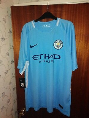 New Genuine Manchester City 2017/18 Home Shirt   - Adults XL