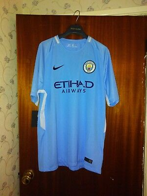New Genuine Manchester City 2017/18 Home Shirt   - Adults L