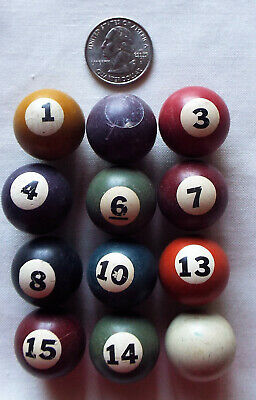 12 Marble Sized Cue Balls