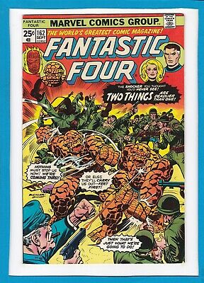 """Fantastic Four #162_September 1975_Very Fine_""""two Things Are Deadlier Than One""""!"""