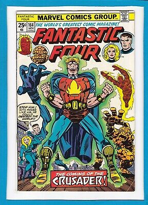 """Fantastic Four #164_November 1975_Very Fine Minus_""""the Coming Of The Crusader""""!"""