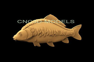 3D Model STL for CNC Router Engraver Carving Artcam Aspire Fish f858