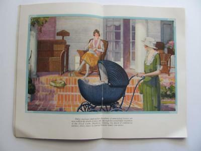 1922 Lloyd Loom Baby Carriage/Furniture Advtg Catalog Illustrated Worlds Mothers