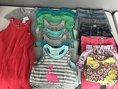 Girls Size Small 6-7 Spring Summer 19 Piece Clothing Lot Justice Gap