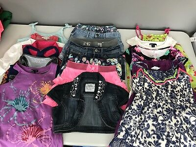 Girls Size Medium 7/8 Spring Summer Clothing Lot 19 Piece Justice Gap (Lot 2)
