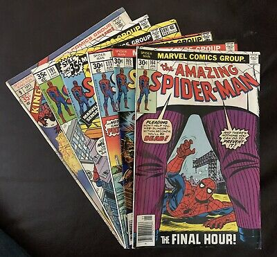 the Amazing Spider-Man lot of 6 Marvel Comics miscellaneous 1973,'77,&'79