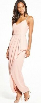 BNWT V by Very Strappy Frill Front Maxi Dress UK 10 RRP £65