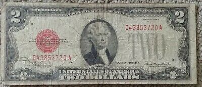 1928 D $2 Dollar Bill Old Us Note