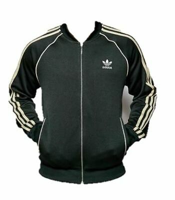 Adidas Mens Superstar Track Jacket Tracksuit Top Zip Jacket Green (AB9716) c60766f748bf