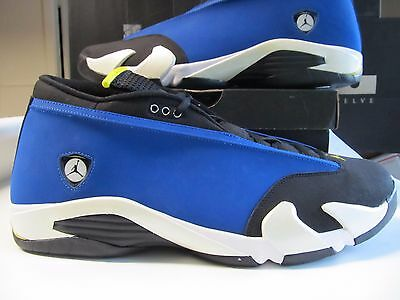 finest selection ac42e d8e19 Ds Nike Air Jordan Retro 14 XIV Niedrig Laney Königsblau Mais Blk 18 807511  405