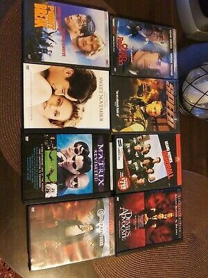 Lot of Keanu Reeves DVD movies Matrix revisited Chain Reaction point break speed