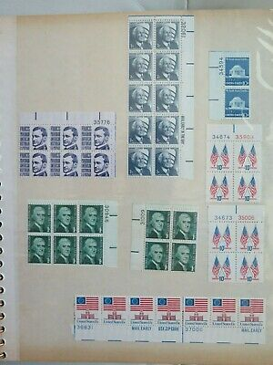 Lot of 500+ unused US stamps, 1 cent - 13 cent
