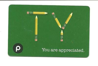 Publix TY with Pencils You Are Appreciated Gift Card No $ Value Collectible