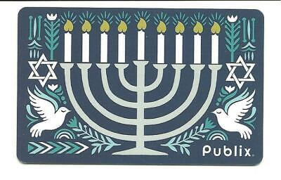 Publix Hanukkah Menorah Star Doves Gift Card No $ Value Collectible
