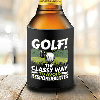 Funny Golf Quote Beer Stubby Can Cooler for Your Golfing Dad or Friend