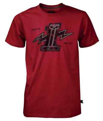 Harley-Davidson Mens Black Label Bolt #1 Skull T-Shirt Red 30291527 (S)