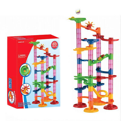 80pc Large Marble Run Race Set Construction Toy Game Building Blocks For Kids HQ