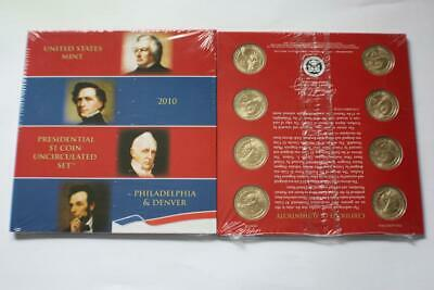 2010 P D United States Mint Presidential $1 Dollar Coins Uncirculated Set Sealed