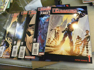 Marvel 2002 1st 5 issues ULTIMATES 1 2 3 4 5 key Avengers qq