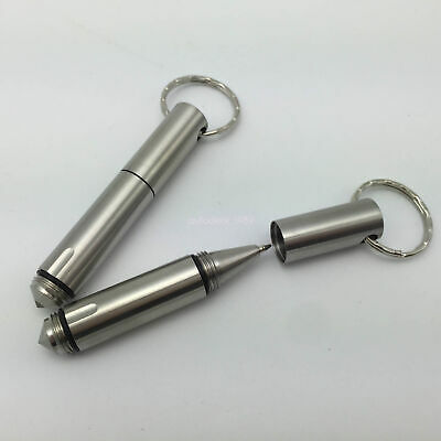 Mini Portable Stainless Steel Tactical Pen Keychain Survival Self defense Tool