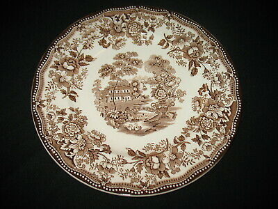 "Vtg Brown Transferware Plate ""Tonquin"" Royal Staffordshire England Cliff Dinner"