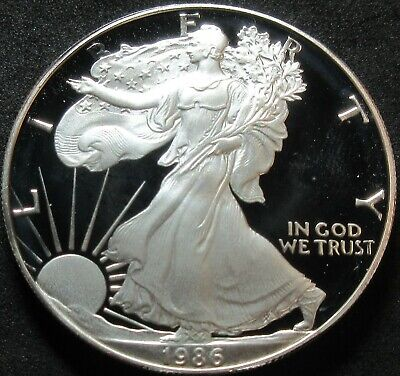 1986-S Proof American Eagle 1 Ounce Fine Silver Dollar Coin