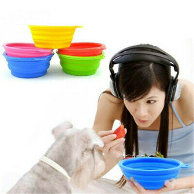 Folding Silicone Dog Bowl Outfit Portable Bowl For Dog Feeder Pet Supplies LT