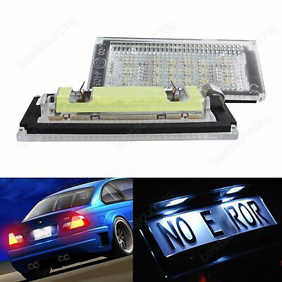 2PCS 3528 SMD LED Licence Number Plate Light BMW E46 2D M3 Coupe / Convertible