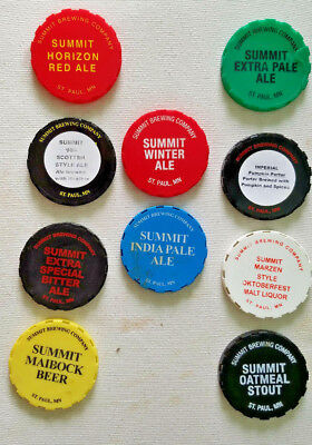 Lot of 10 Summit Brewing Keg LIDS EXTRA PALE ALE WINTER ALE HORIZON RED  rare! cd500b685