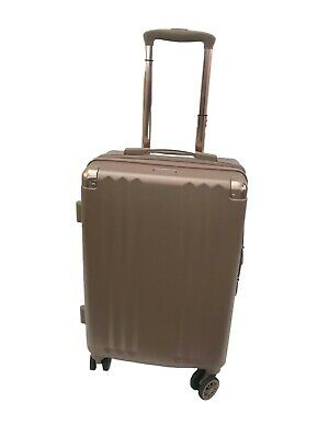 Calpak Ambeur Carry On Rose Gold Expandable Luggage 8 Wheel Spinner Travel Bag