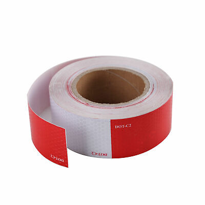 """2""""x150' DOT-C2 Conspicuity Tape Reflective Approved Trailer Red White -1 Roll"""