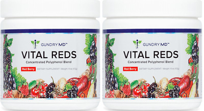 Gundry MD Vital Reds 2 PACK (x2 Tubs) Red Berry Dietary Supplement