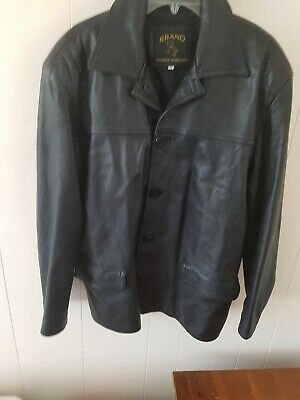 Vera Pelle Mens Leather Jacket Size M Made in Italy vintage retro