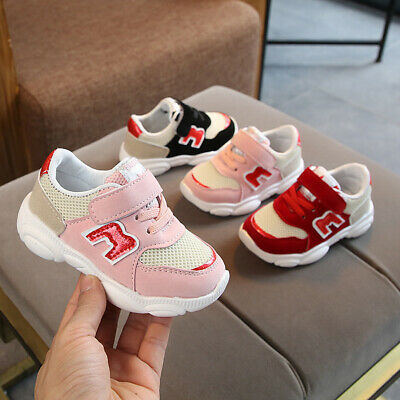 Fashion Breathable Baby Casual Shoes Toddler Boys Girls Running Shoes Sneakers