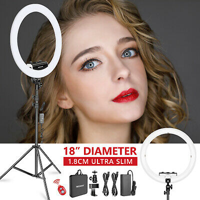 "Neewer 1,8 cm Extrem Schlank 18""  3200-5600K Dimmbares 320 LED Ring Licht Set"