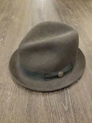 GOORIN BROTHERS GRIFFIN Trilby Fedora Warm Hat Bros 100% Wool 600 ... 197515bbb621