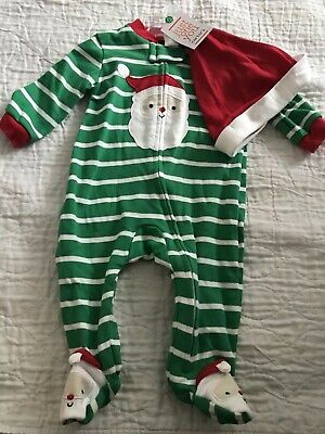 9fea9f820 GREEN CARTERS STRIPE Santas Helper Elf Christmas Costume Outfit Hat ...